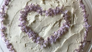 Lilac mascarpone and honey