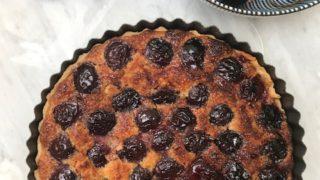 Cherry Tart recipe with frangipane filling