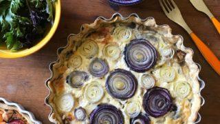 Caramelised onion tart, onion tart, onion quiche, caramelised onion quiche