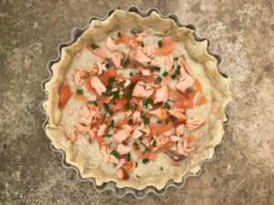 Smoked Salmon Tart, Smoked Salmon Quiche
