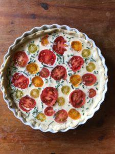 Tomato tart, tomato quiche