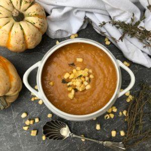 Pumpkin and Sweetcorn Soup